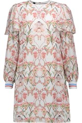 Mother Of Pearl Leila Printed Silk Chiffon Mini Dress White