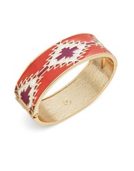 T And C Theodora And Callum Enamel Bangle Bracelet Coral