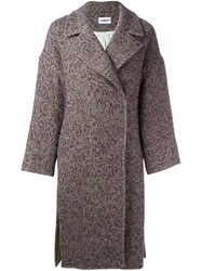 Cacharel Single Breasted Tweed Coat Multicolour