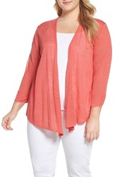 Nic Zoe Plus Size Women's Four Way Convertible Cardigan Coral Crush