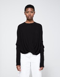 Assembly New York Twist Top In Black Black Crepe