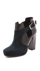 Surface To Air Double Layer Booties Navy Black