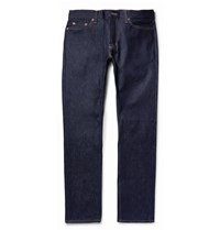 Jean Shop Mick Slim Fit Raw Selvedge Denim Jeans Dark Denim