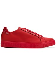 Philipp Plein Logo Sneakers Red
