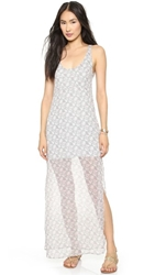 For Love And Lemons Midnight Cowgirl Maxi Dress Sage Floral