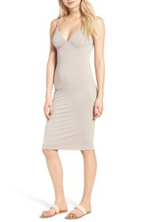 Socialite Women's Socilate Bodycon Midi Dress Taupe