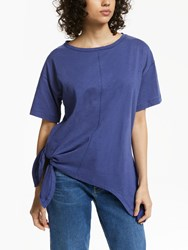And Or Side Ties T Shirt Blue