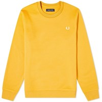 Fred Perry Back Print Sweat Yellow