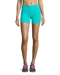 Alo Yoga Burn Performance Shorts Aqua Blue