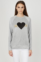 Rodarte Rohearte Velour Sweatshirt Heather Grey