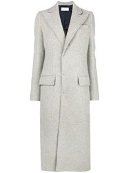 Esteban Cortazar Tailored Coat Grey