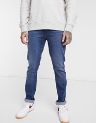 Ben Sherman Slim Fit Jeans In Mid Wash Blue