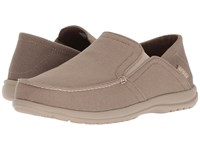 Crocs Santa Cruz Convertible Slip On Khaki Cobblestone Slip On Shoes