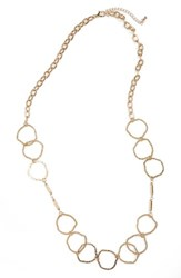 Panacea Women's Hammered Circle Necklace