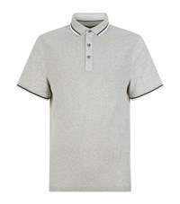 Michael Kors Knitted Panel Polo Shirt Male Grey