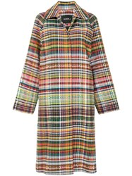 Goen.J Long Tweed Coat Multicolour