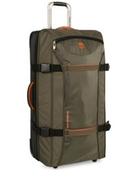 Timberland Twin Mountain 22 Wheeled Duffel Bag Burnt Olive Burnt Orange