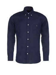Eden Park Men's Linen Shirt Navy