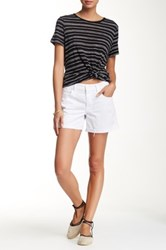 Mother Dropout Cuff Short White