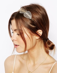 Asos Filigree Leaf Headband Gold