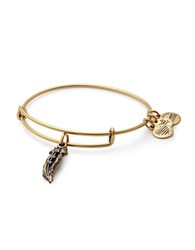 Alex And Ani Tokens Feather Charm Bangle Gold