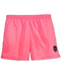 Maui And Sons Party Rocker 2 Volley Swim Trunks Neon Pink