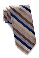Nicole Miller Striped Silk Tie Multi