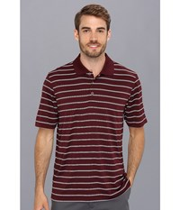 Adidas Puremotion 2 Color Stripe Jersey Polo '15 Light Maroon White Men's Short Sleeve Knit