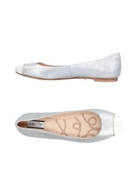 Lucy Choi London Ballet Flats Silver