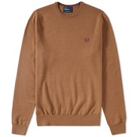 Fred Perry Classic Crew Neck Sweater Brown