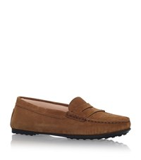 Tod's Gomma Suede Loafers Female Brown