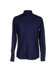 Les Copains Shirts Shirts Men Dark Blue