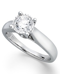 Trumiracle Diamond Solitaire Engagement Ring In 14K White Gold 3 4 Ct. T.W.