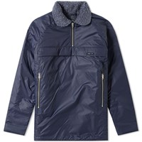 Nigel Cabourn X Peak Performance Quilted Smock Blue