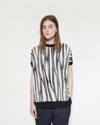 Marni Graphic Print Sweater Tee Limestone