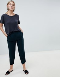 Native Youth Peg Trousers With Gathered Hem Detail Green