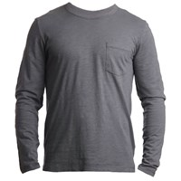 Tonn Surf Organic Cotton Long Sleeve Pocket Tee Grey