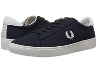 Fred Perry Spencer Canvas Navy White Men's Lace Up Casual Shoes Blue