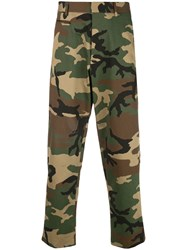 R 13 R13 Camouflage Cropped Trousers Green