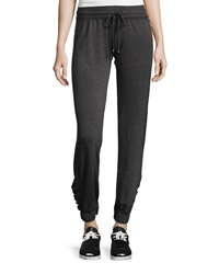 Neiman Marcus Ruched Lounge Pants Black