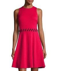 Maggy London Fit And Flare Scuba Dress Cosmo Red