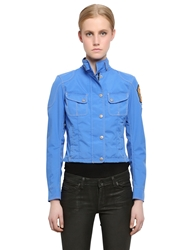 Matchless London Nylon Jacket With Patch Detail Royal Blue