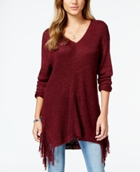 American Rag Juniors' V Neck Fringe Sweater Only At Macy's