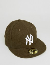 New Era 59Fifty Fitted Cap Ny Yankees In Melton Wool Green