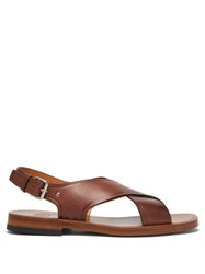 Church's Dainton Crossover Leather Sandals Brown