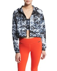 Alala Woven Mesh Inset Athletic Zip Jacket Palm Shadow Women's