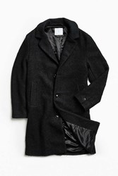 Urban Outfitters Uo Elias Boucle Top Coat Black