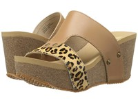 Volatile Charlee Natural Leopard Women's Sandals Animal Print