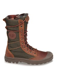 Palladium Pampa Tactile Combat Boots Brown