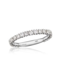 Forzieri 0.74 Ct Diamond 18K Gold Eternity Band White Gold